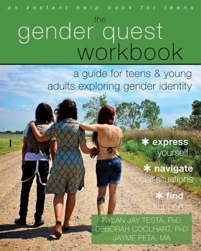 The Gender Quest Workbook: A Guide for Teens & Young Adults Exploring Gender Identity by Rylan Jay Test, PhD; Deborah Coohart, PhD; and Jayme Peta, MA (Grades 9 & up). This one-of-a-kind, comprehensive workbook will help you navigate your gender identity and expression at home, in school, and with peers.