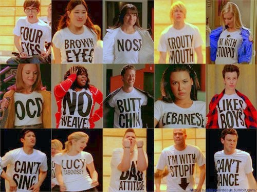 Glee- everyone has flaw yet its our imperfections that makes each of us perfect in our own way!