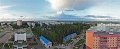 Десногорск. Вид на 2 и 4 микрорайоны. Панорама. Дмитрий Буданов