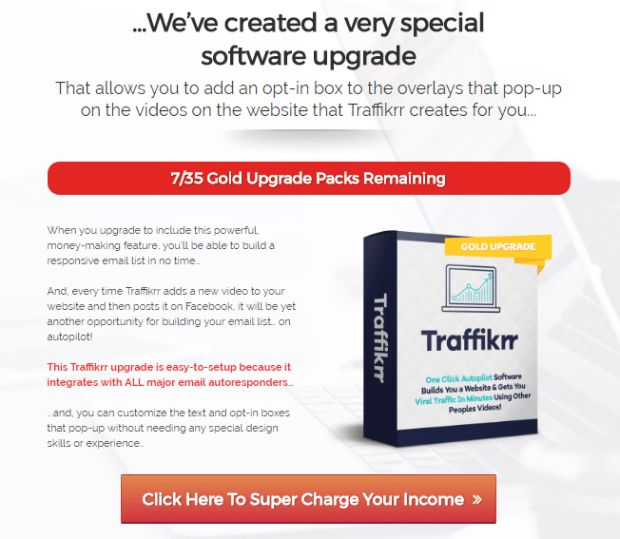 Traffikrr Gold Pro Upgrade OTO Review is Best Upsell #1 Of Traffikrr Pro Software By Glynn Kosky With Upgrade Integrates With All Major Email Autoresponders & You'll Be Able To Build A Responsive Email List In No Time, So Get Targeting Leads On Your Email List And Increased Sales Conversions.  #TraffikrrGold #Traffikrr #emailmarketing #video #overplay #videomarketing #CTA #socialmedia