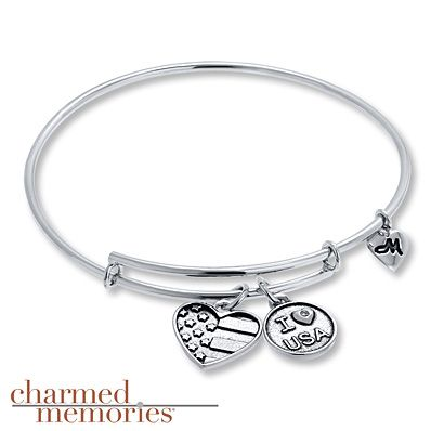 Display your love for your country with this Charmed Memories expandable bangle.