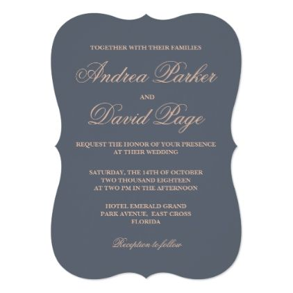 Elegant Script Typography Formal Wedding Invite - script gifts template templates diy customize personalize special
