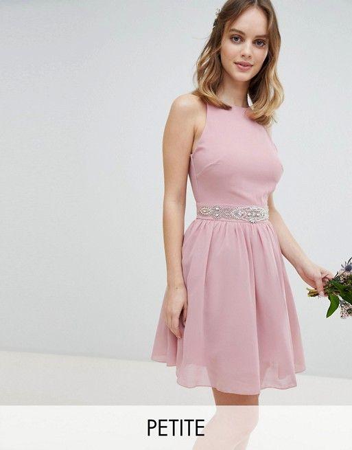 823cc1287f0e TFNC Petite Embellished Midi Bridesmaid Dress with Full Prom Skirt ...