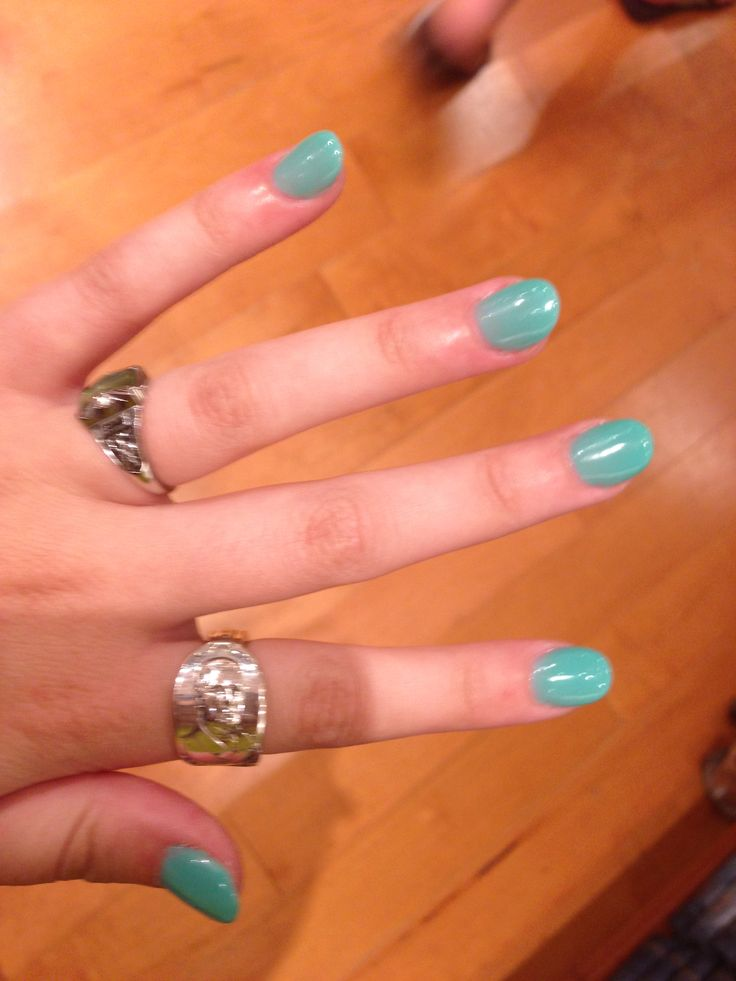 almond shaped teal acrylic nails   so obsessed    xx