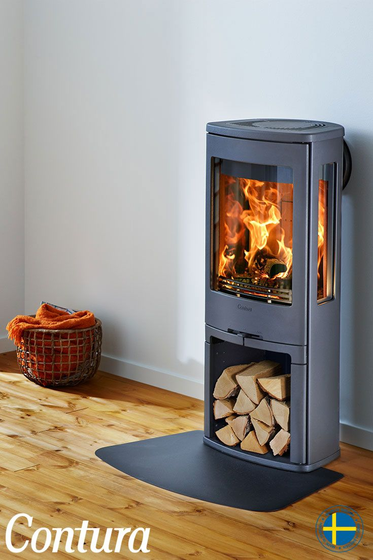CONTURA 750 | A high mounted firebox and very generous glass areas make this wood stove the burning heart of your home, wherever it is.