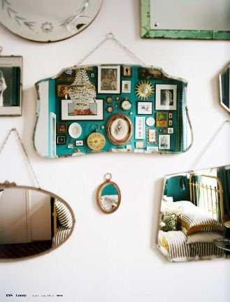 Mirror wall.. Thinking vintage style mirrors though...