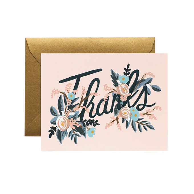 Etiquette For Sending Wedding Gift Thank You Notes : ... single folded riflepaperco note cards thank you cards thank you