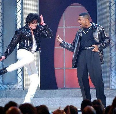 Michael and Chris Tucker at 30th anniversary special.
