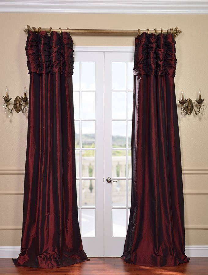 14 Best Ruched Faux Silk Taffeta Curtains Images On