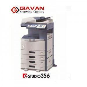 Cho thuê máy photocopy Toshiba E356   Cho thuê máy photocopy toshiba e-Studio 356 đa chức năng cỡ lớn và các doanh nghiệp, công ty bao gồm rất nhiều tính năng mà thường được dành riêng cho khối lượng công việc lớn –  với tốc độ 45 trang/ phút.