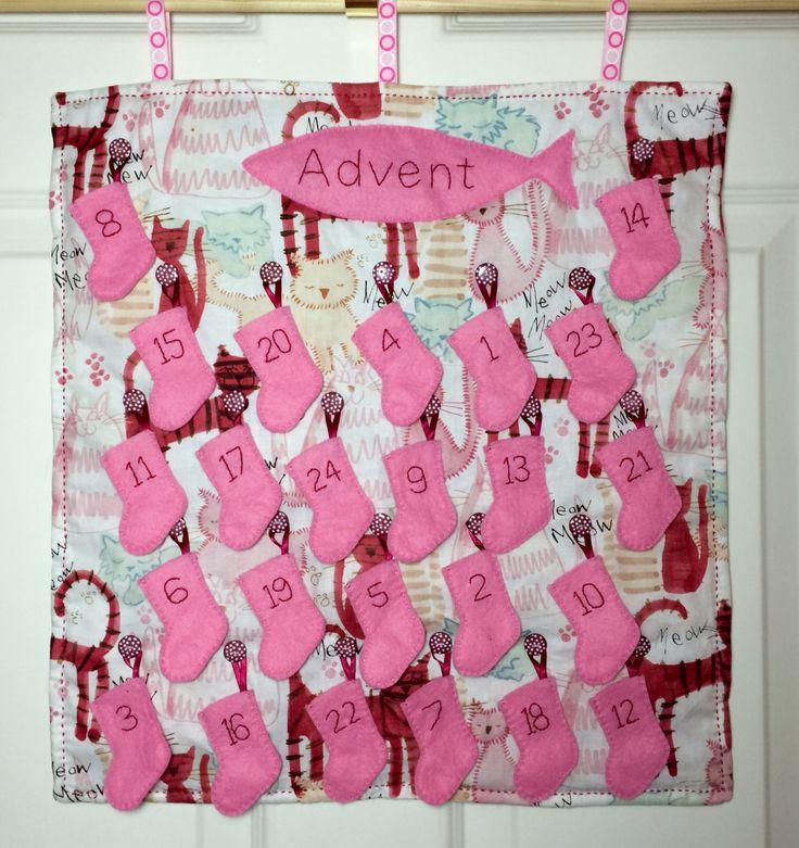 Pet cat Advent Calendar by LavenderHeartUK on Etsy