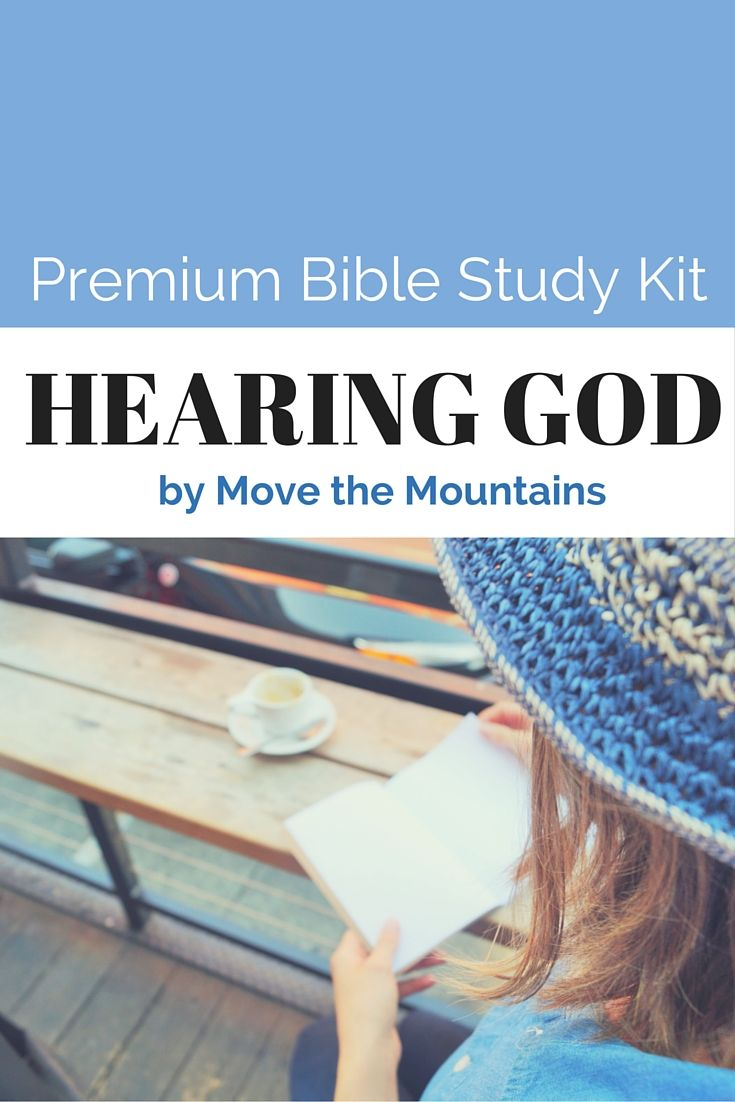 Bible study lesson hearing god