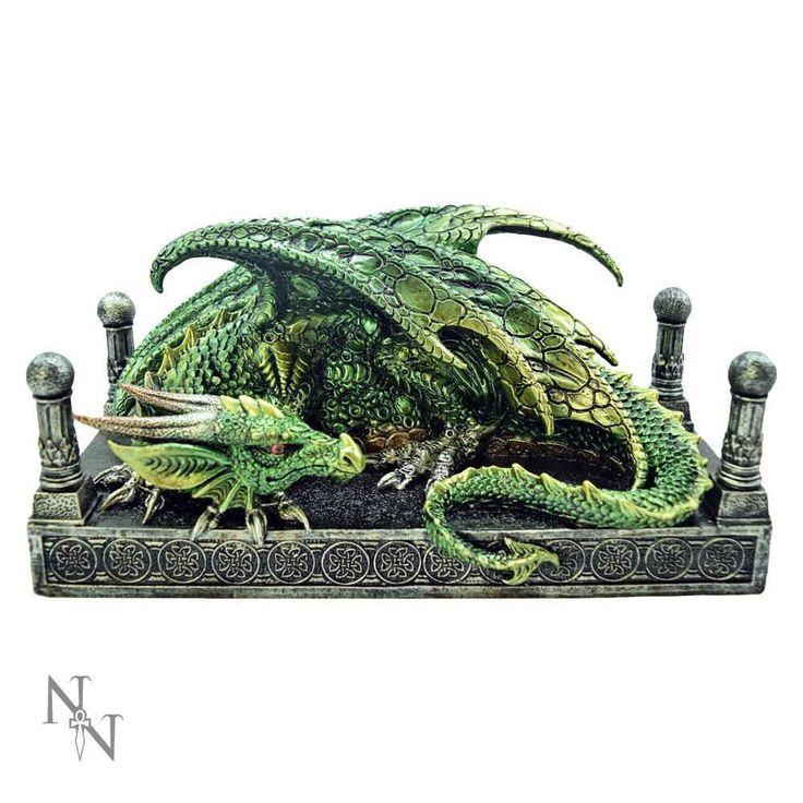 Nemesis Now Dragon's Den, groen draak beeld groen – Fantasy – Nemesis Now