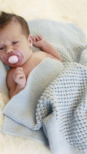 Babytæppe | Strikkeopskrift på blødt babytæppe
