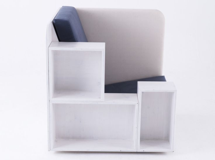 OpenBook | TILT Products. Library chair...built-in bookshelves.