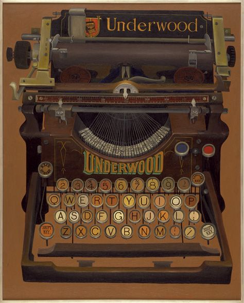 Underwood Typewriter 1957 oil on canvas by Lewandowski-Lois