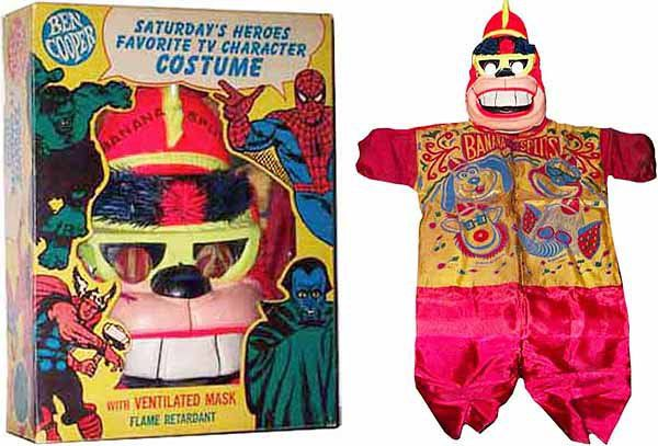 """Bingo of The Banana Splits, a late 60's/early 70's """"inexpensive"""" costume courtesy of the Ben Cooper company...at least it's flame retardant"""