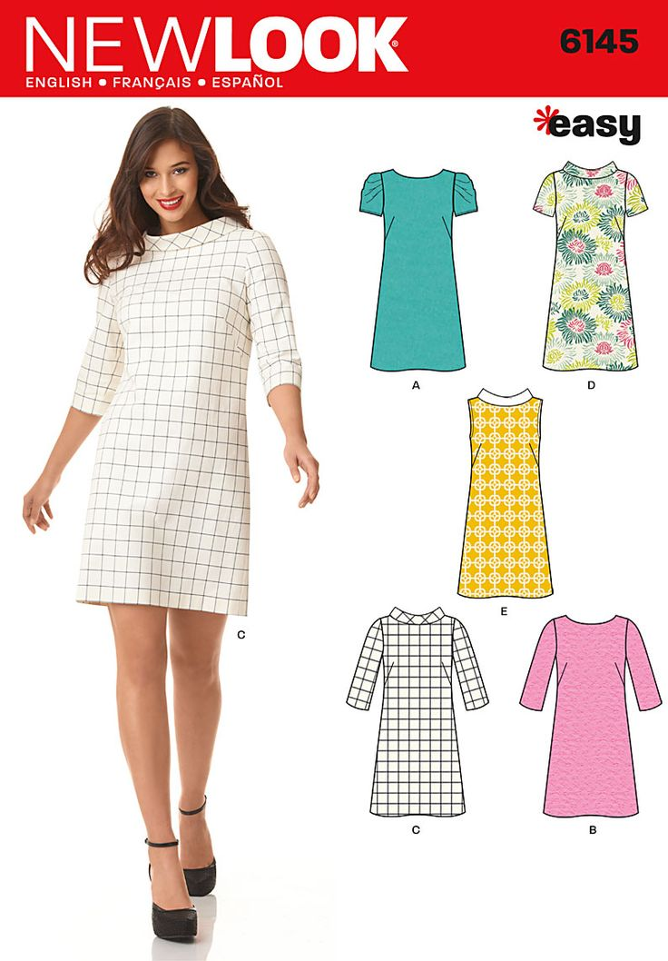 Purchase the New Look 6145 Misses Dress sewing pattern and read its pattern reviews. Find other Dresses sewing patterns.