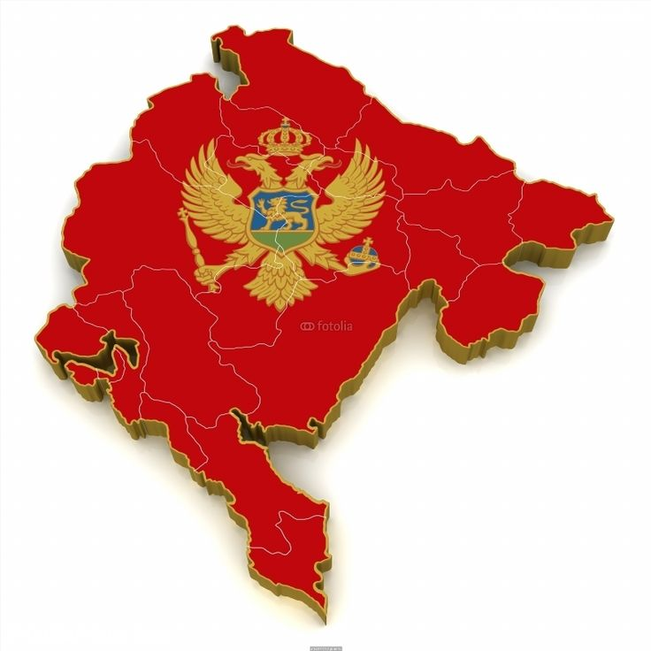 Colombia On World Map%0A  D Map of Montenegro poster