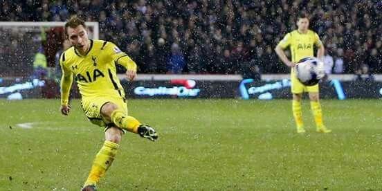 Eriksen scoring v Sheffield United replay