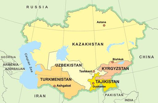North and Central Asia Map