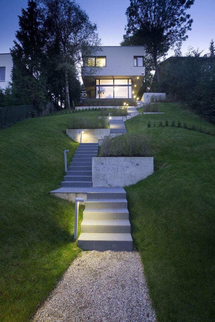 Bildergebnis fr schmales grundstck haus hang  ThinSlim houses  Haus schmales grundstck