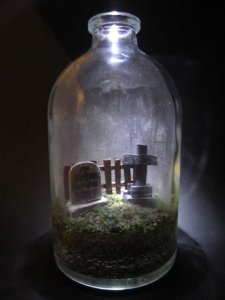 """Sheer happiness!!!...How much halloween can you fit in a tiny jar? Do the Christmas """"Villages"""" have this stuff?"""