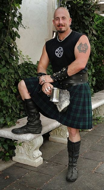Bald? Check. Burly? Check. Goatee? Check. Tattoo? Check. Kilt? Check. WHERE IS THIS MAN??!!