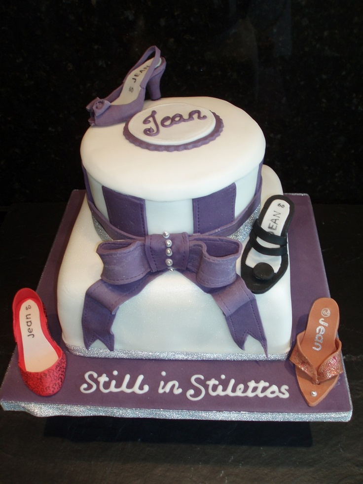 The Ticklebelly Bakehouse - Bespoke Cakes  60th birthday shoe cake