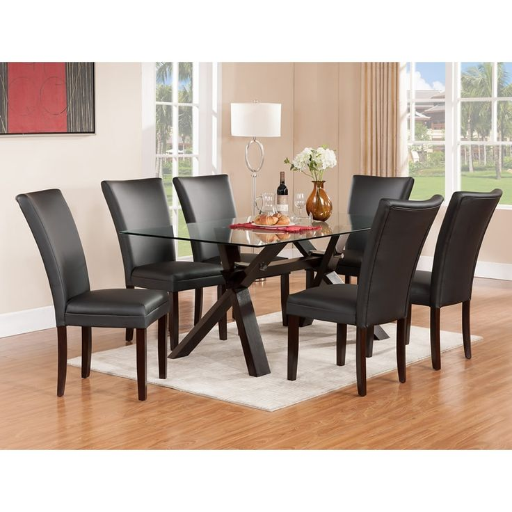 Berkley 5Pc Black Chair Dining Set at Tepperman's