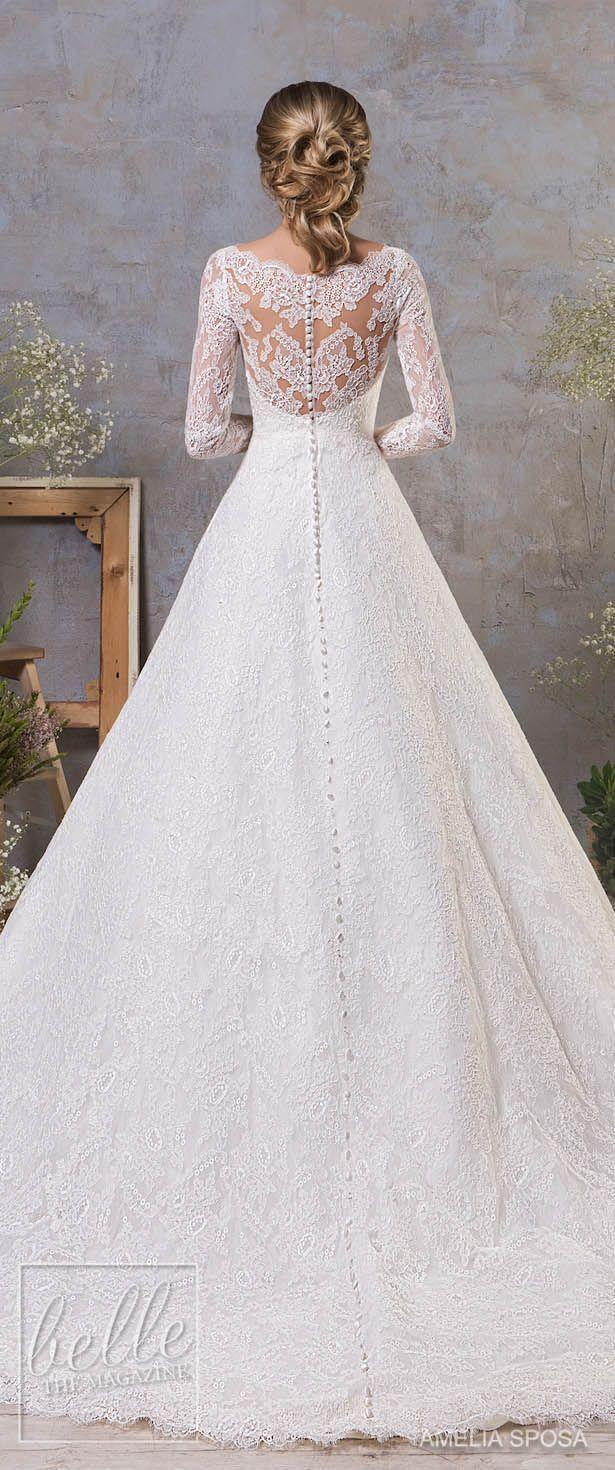 Amelia Sposa Fall 2018 Wedding Dresses #laceweddingdresses