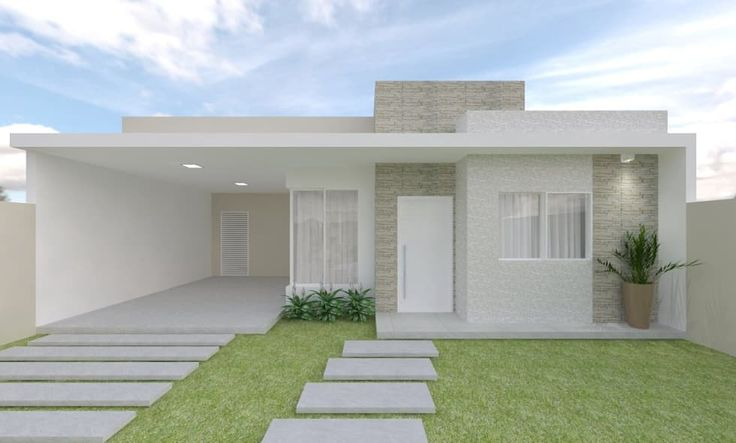 Fachada : Casas modernas por Aline Bassani Arquitetura