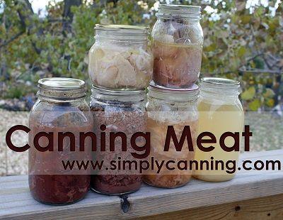 Canning Meat, Venison, Beef, Pork, Elk, Chicken and Fish. http://www.simplycanning.com/canning-meat.html