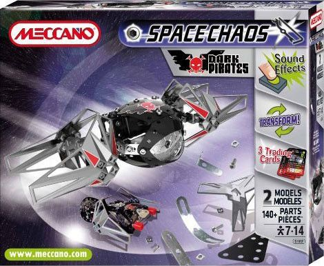 Something for the astronaut or budding engineer A great gift idea. Its never to early to give Meccano!  MECCANO  Spacechaos Dark Pirates 805102 #toys2learn #construction #meccano #earlylearning