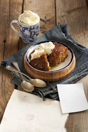Malva pudding - a traditional South African favorite.