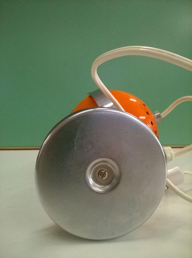 Lampada Da Tavolo Vintage Arancio Design Space Age Eyeball Anni '70 5