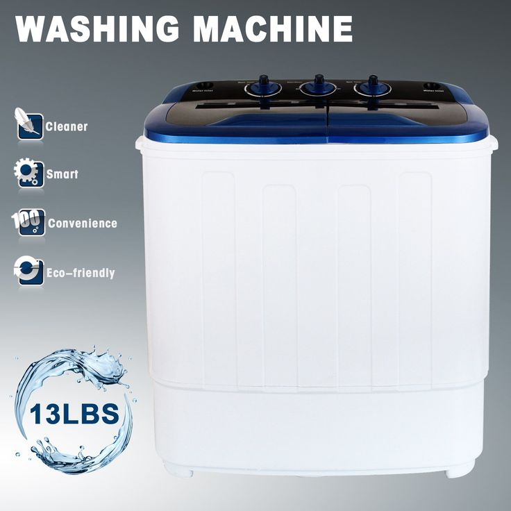 YHG Mini Compact Portable Twin Tub Washing Machine Washer Spin Dryer 13Ibs Capacity
