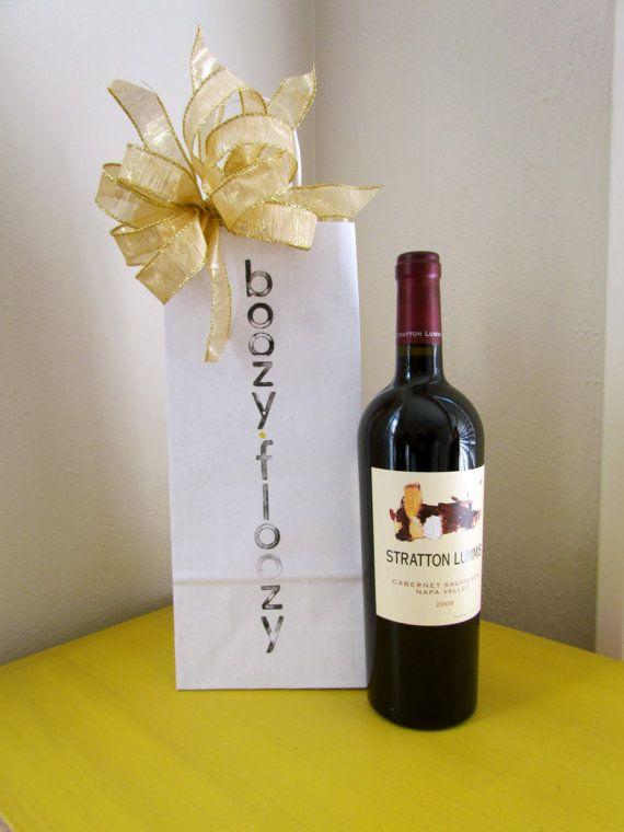 BOOZY FLOOZYKraft Paper Gift Bag for Wine Wrap it Up Pinterest