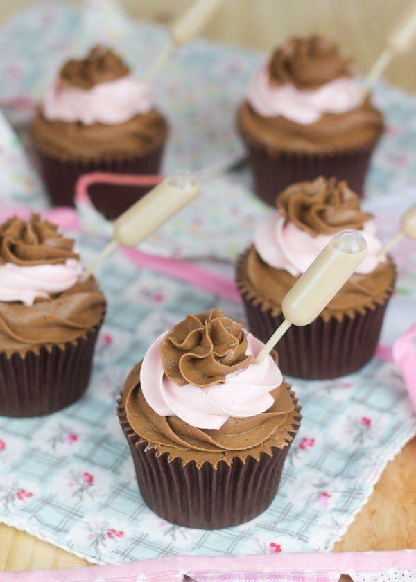 Emborracha a tus familiares y amigos a base de cupcakes (Cupcakes de nutella y Baileys doble)