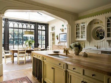 Kitchen with a modern interpretation of Gothic Revival style | Eric J Smith | via atticmag.com...