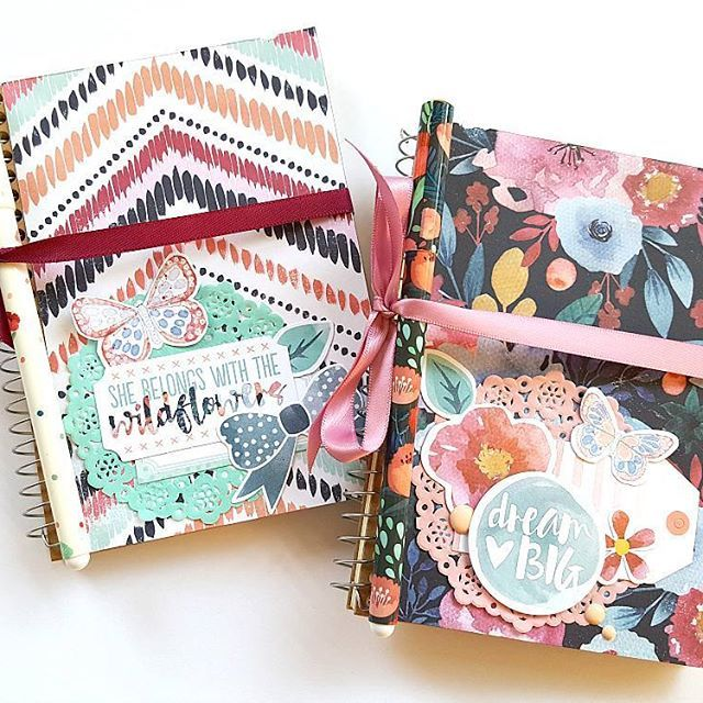A pair of super cute little altered notebooks created using the Cocoa Vanilla Studio 'Wild at Heart' collection 😍 @cocoa_vanilla_studio #cocoavanillastudio #cvsdesignteam #wildatheart #scrapbooking #alterednotebook #offthepage #patternedpaper #embellishments #papercraft #memorykeeping #paperpretties #ilovetocreate