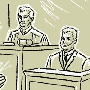 The first courtroom sketch style comic/webcomic, brought to you by Oscillating Profundities