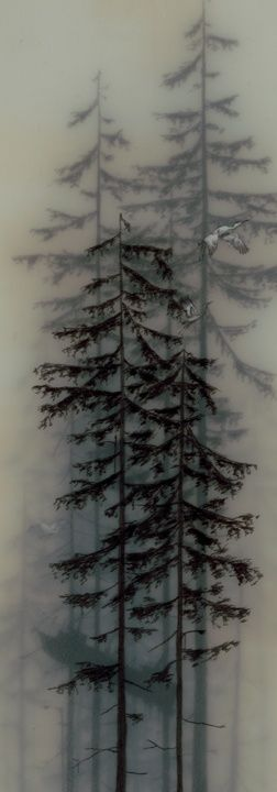 I like the detail of using gray to make trees look like they are in the background
