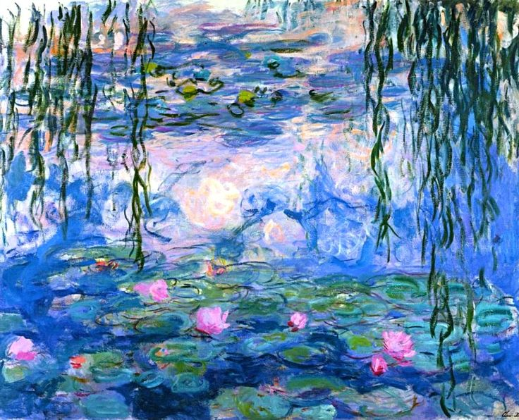 Water Lilies by Claude Monet. It's my favorite painting. Its mainly because of my favorite children's book Linnea in Monet's Garden, I fell in love with his paintings in the book♥