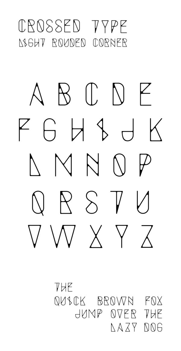 Crossed Type by Baptiste Chlx, via Behance. Isn't really art but its still pretty!