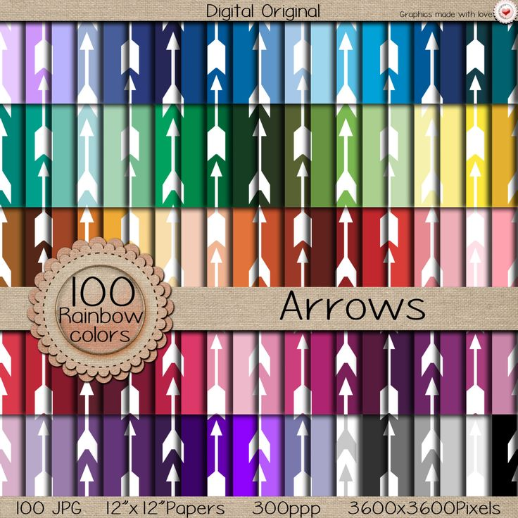 "100 Digital papers ""MEGA pack"" / Arrows  / 300 ppi  / instant download. de LilyColor.etsy.com en Etsy"
