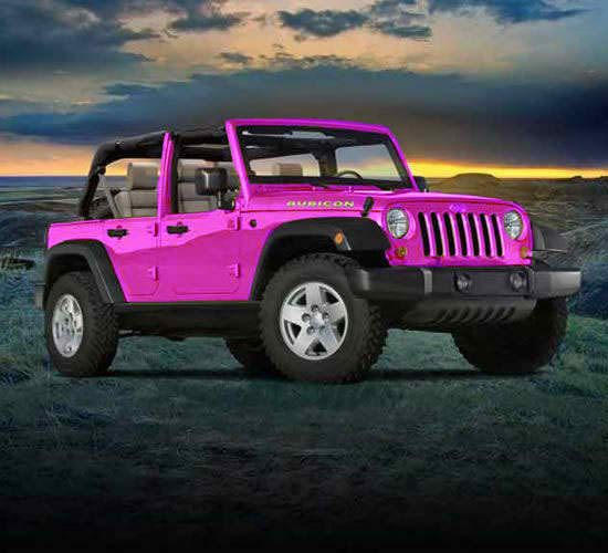 """Always wanted a pink Jeep.  License plate? """"MATTEL"""".: Jeeps, Stuff, Vroom Vroom, Dream Cars, Pink Jeep Wrangler, Jeep Wranglers"""