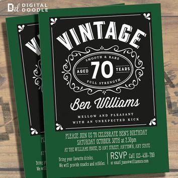 70th Birthday Invitation, 70th Birthday, Birthday Invite, 70 Birthday, Digital, Milestone, Printable, DIY, Invite, Template, Birthday Party More
