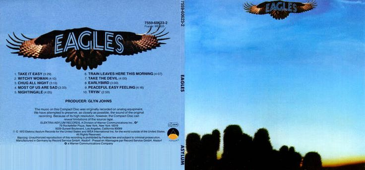Eagles is the debut studio album by the rock band the Eagles. The album was recorded at London's Olympic Studios with producer Glyn Johns and released in 1972. The album was an immediate success for the young band reaching No. 22 on the charts and going platinum.