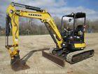 2013 Yanmar ViO35-6A Hydraulic Mini Excavator Rubber Tracks Dozer Blade Diesel
